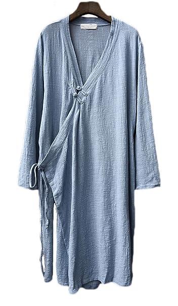 Amazon.com: Soojun - Camisas chinas con botones de rana para ...