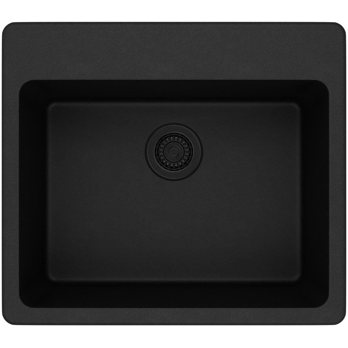 Elkay Quartz Classic ELG2522BK0 Black Single Bowl Top Mount Sink
