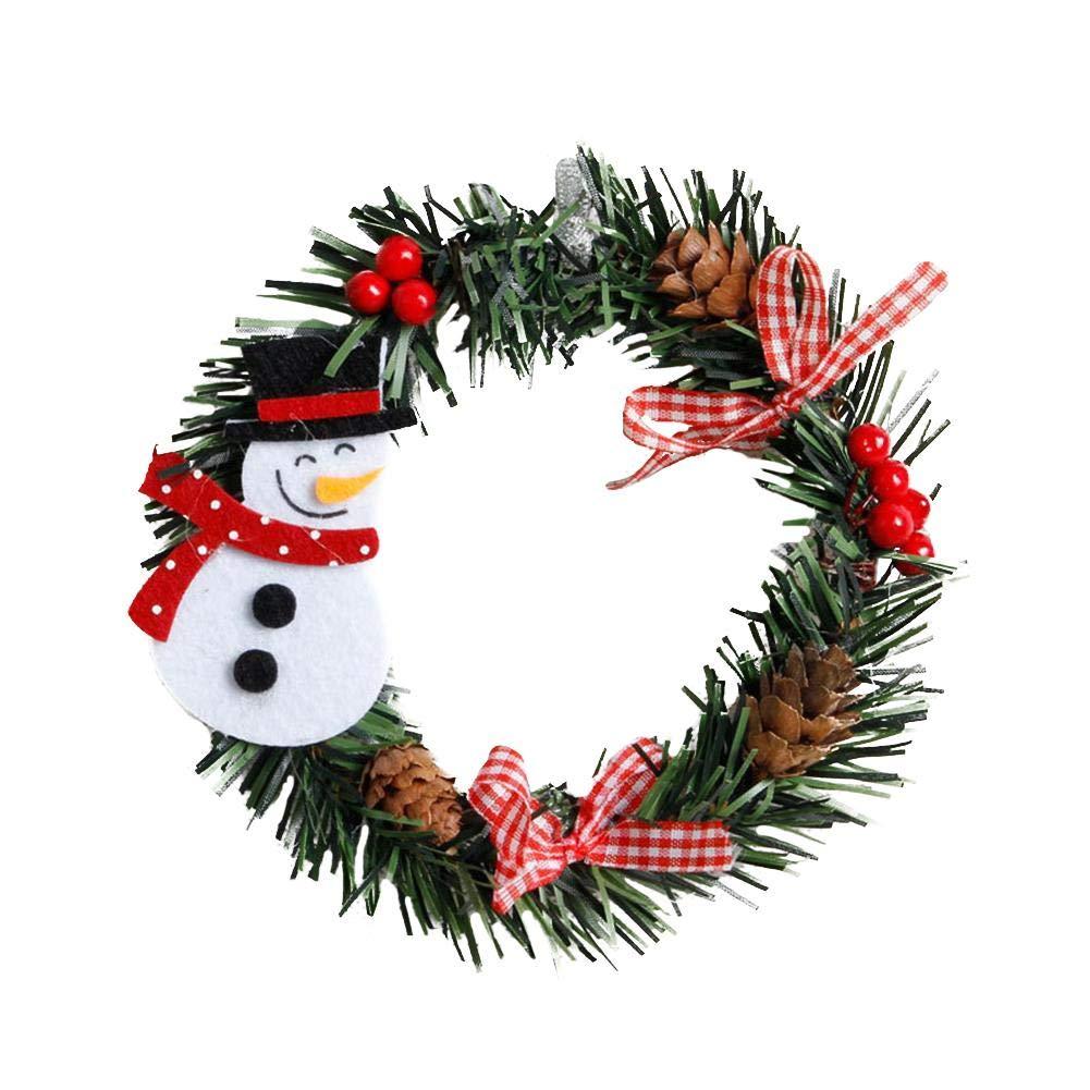 Bulary Wreaths Christmas Snowman/Santa Garland Christmas Decoration Garland