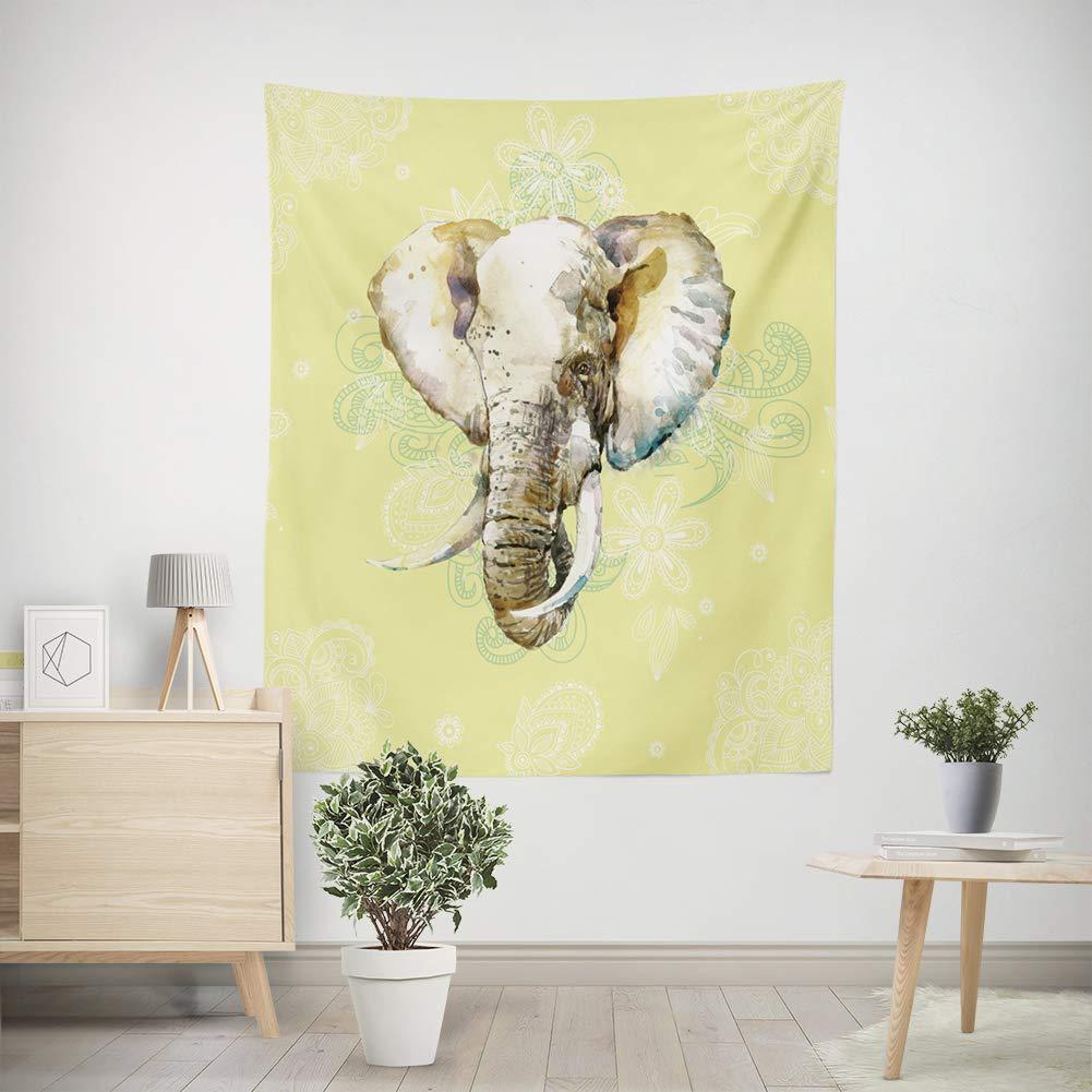 Amazon.com: fayfairy Elephant Tapestry Indian Mandala Tapestry Wall ...