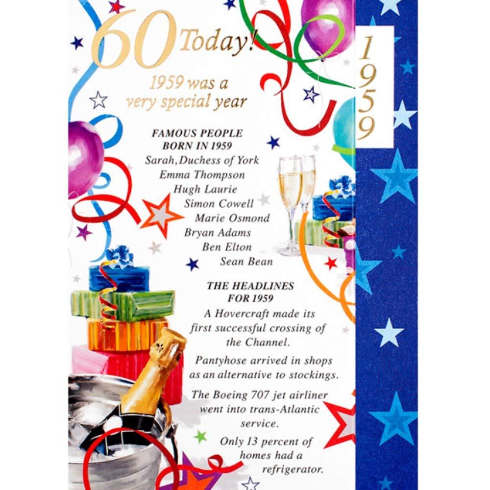 Tarjeta de felicitación de cumpleaños para hombre, 60 años ...