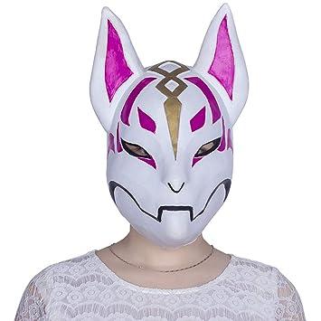 Ydq Máscara De Zorro De Halloween Máscara De Látex Material De Terror Espeluznante Ordenado Festivo Mascarada