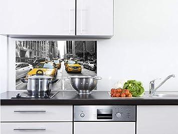 GRAZDesign Küchenrückwand Glas Schwarz Weiß - Küchen Spritzschutz ...