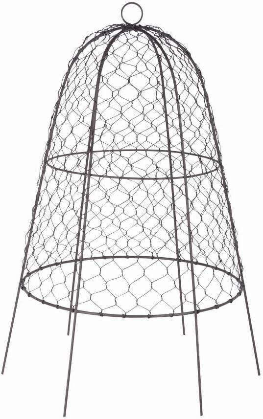 mit Aufh/änge//Transport/öse stabilder /Ø 38,2 x 55 cm Fester Stand Rivanto/® Drahtglocke aus verzinktem Eisendraht