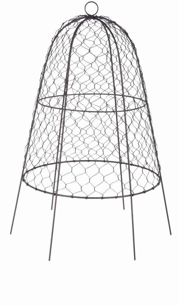 Rivanto® Drahtglocke aus verzinktem Eisendraht, Ø 38,2 x 55 cm, mit Aufhänge/Transportöse, stabilder, Fester Stand