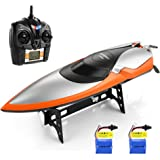 HELIFAR RC Boats Remote Control Boat Pools and Lakes 2.4GHz High Speed Boat 20MPH 180 Degree Flipping RC Racing Boat Adults & Kids(2 Batteries)