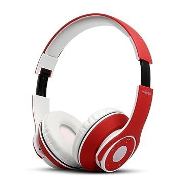 UGI® Auricular Bluetooth V4.0 Plegable Control táctil Oído Auricular inalámbrico con micrófono Orejeras de proteínas y Modo con Cable para PC Teléfonos ...