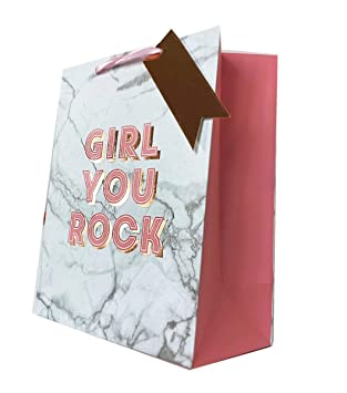 Gift Bag Large Her Girl Ladies Women Wrapping Marble Birthday Occasion FreeTape