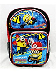 Backpack - Despicable Me Large Full Size 16 School Bag - Danger! Minion At Work