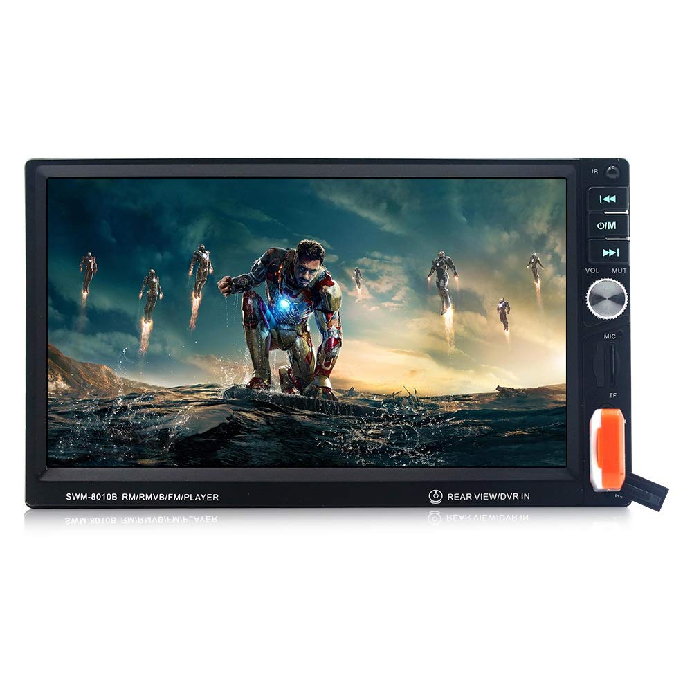 Darshion Car Audio Player, HD 7in Touch Screen Auto MP5 Player Card Radio with Rear View U Disk TF 8010B