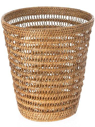 KOUBOO 1030059 La Jolla Rattan Mesh Round Waste Basket, 11