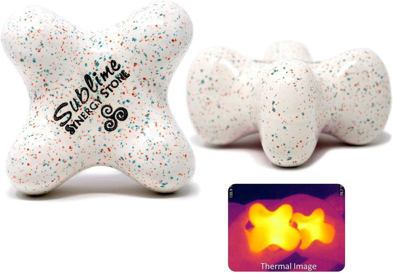Sublime Candy Single Synergy Stone – Contoured Hot Stone Massage Tool – Relaxing and Therapeutic for Neck, Back, Legs, Feet – Ultra-Smooth for Massage on Skin with Oil or Over Clothes