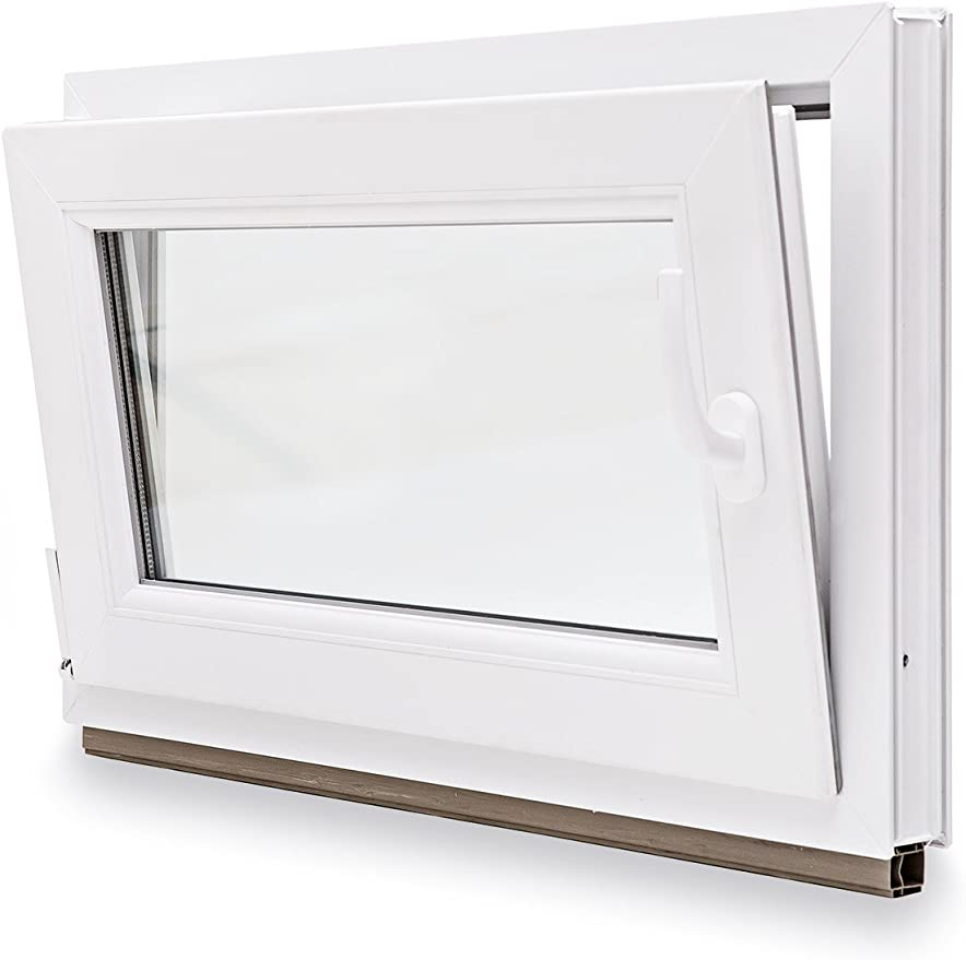 FIB Premium Kunststoff Wei/ß Kunststofffenster Festverglasung BxH: 110x40 cm Breite: 110 cm 2 Fach