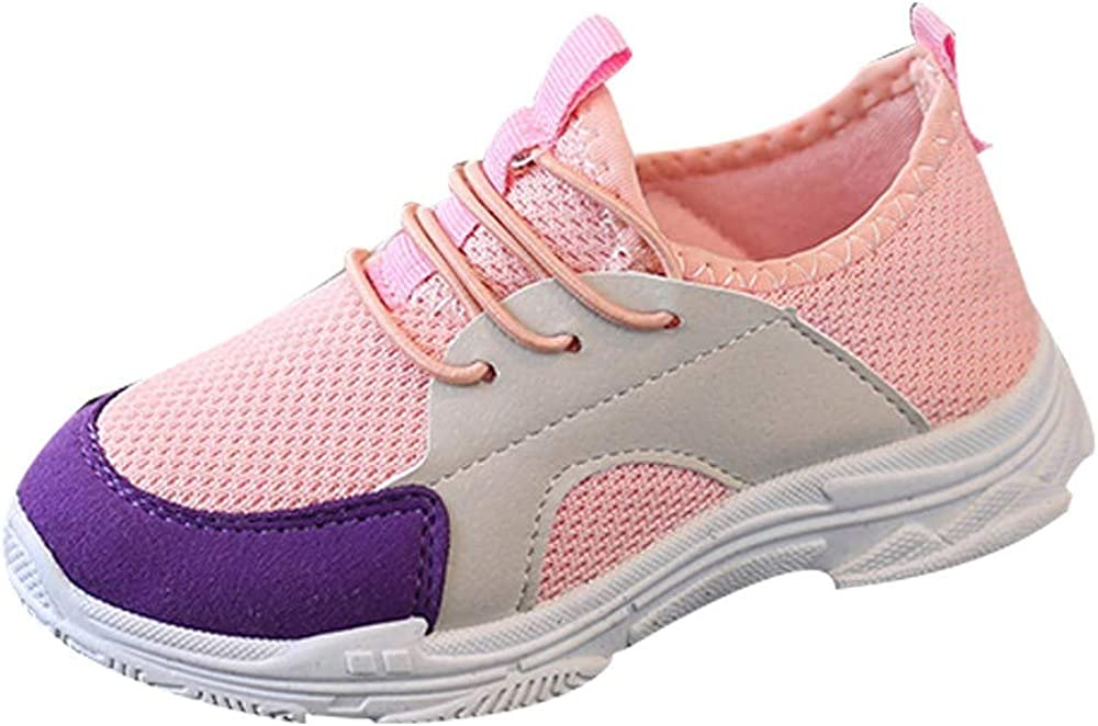 Voberry@ Toddler Kids Mesh Sneakers Sport Running Boys Girls Outdoor Lightweight Breathable Shoes