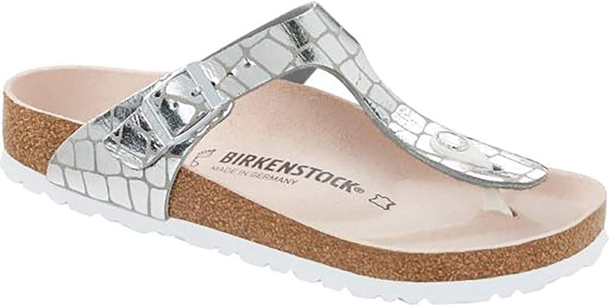 Birkenstock Tongs Gizeh Microfibre Gator Gleam Silver