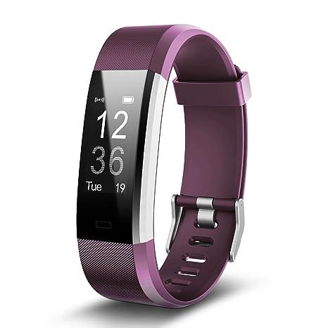 TechCode Reloj Fitness, Brazalete Deportivo Bluetooth Smartwatch IP67 Relojes Inteligentes a Prueba de Agua Podómetro