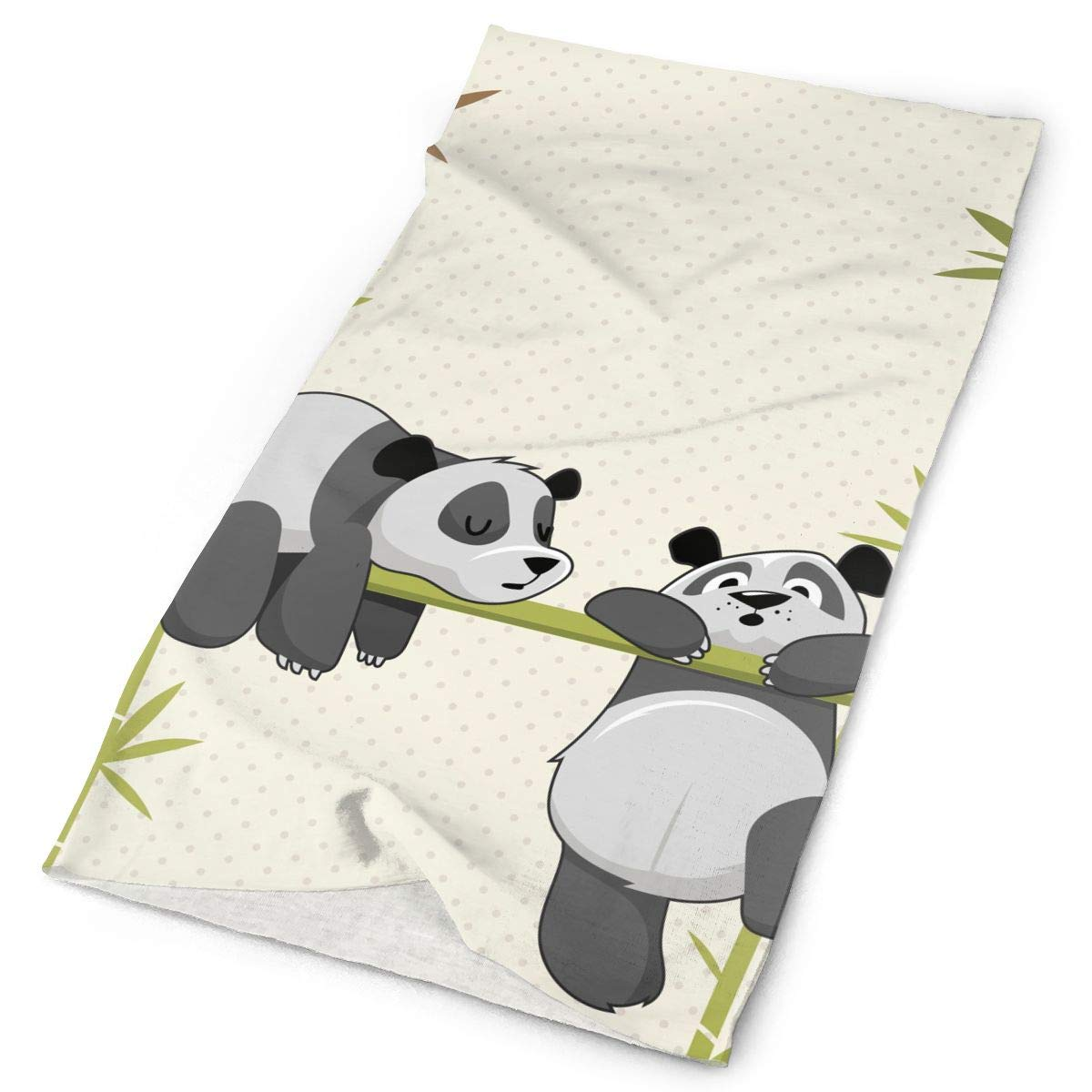 Cute Panda Sleeping Bamboo Unisex Fashion Quick-Drying Microfiber Headdress Outdoor Magic Scarf Neck Neck Scarf Hooded Scarf Super Soft Handle