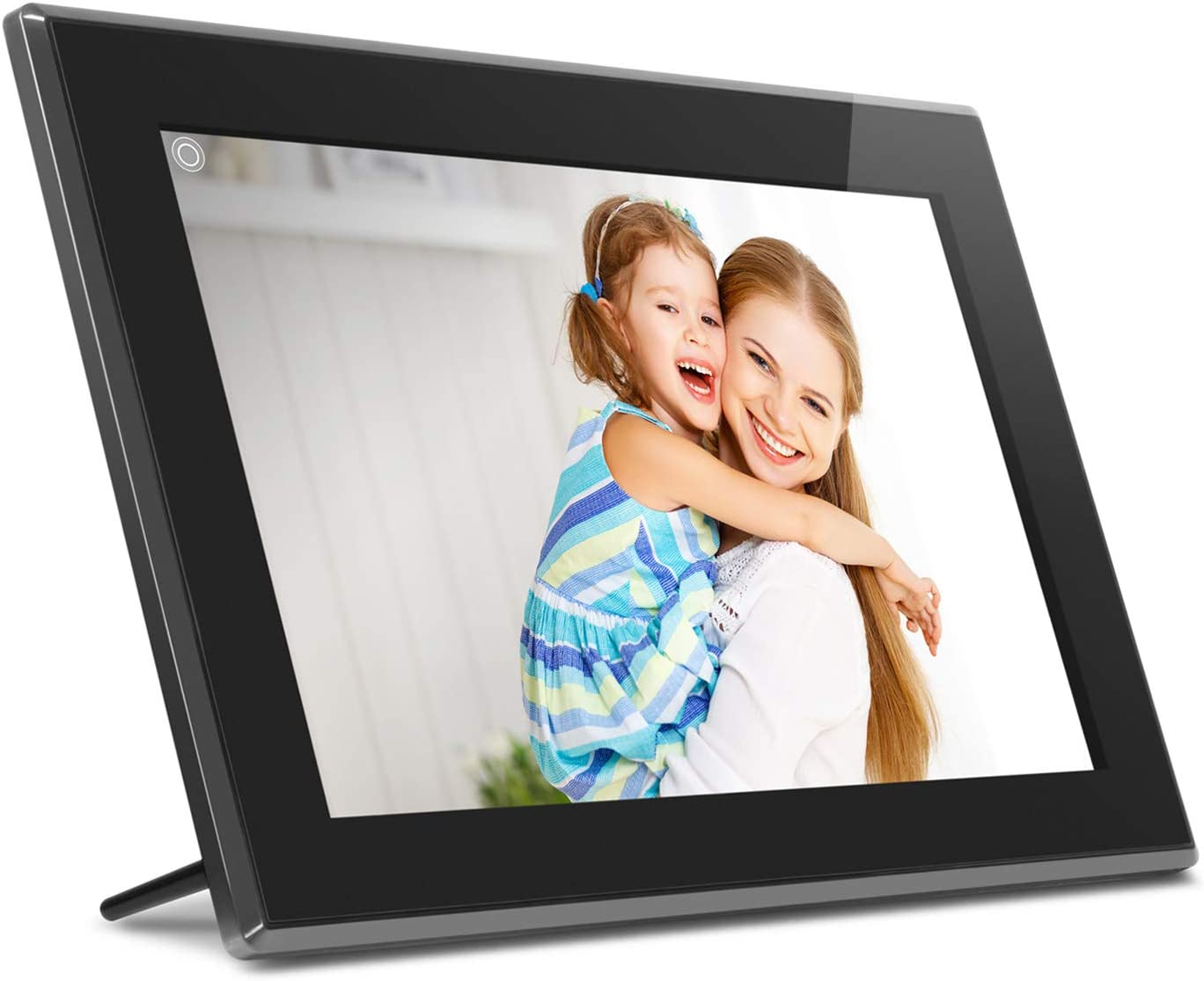 """Aluratek 15.6"""" WiFi Digital Photo Frame with Touchscreen IPS LCD Display & 16GB Built-in Memory, Photo/Music/Video (AWS15F)"""