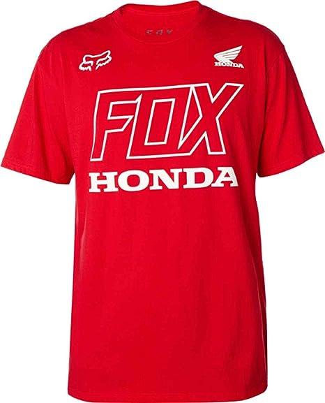 Fox Racing Menu0027s Fox Honda S/S Shirts,Small,Dark Red