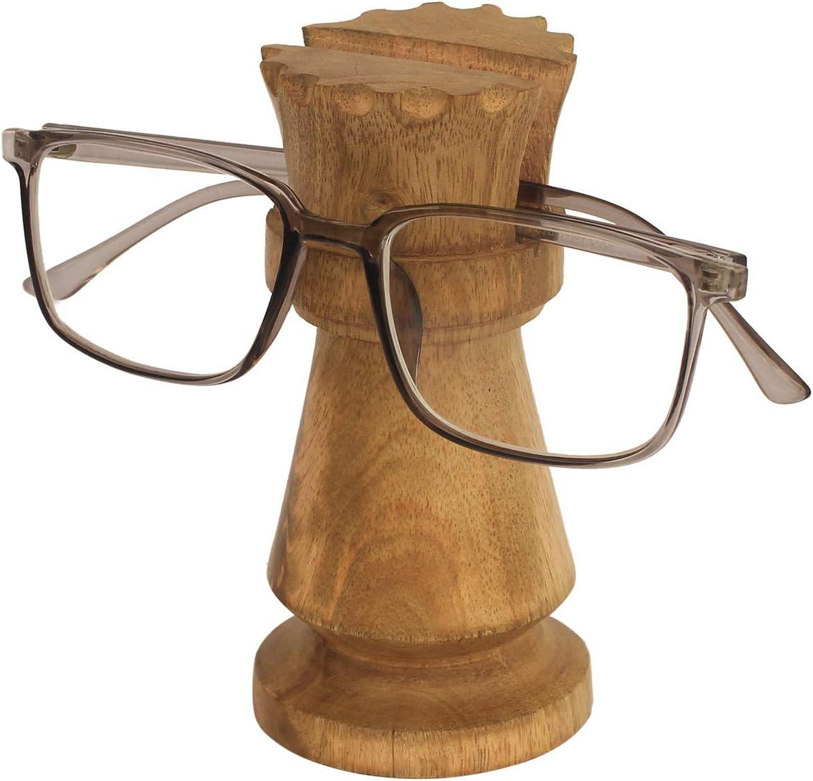 CRAFKART Chess Set Queen Spectacle Holder - Best Buy Queen Spectacle Holder Wooden Eyeglass Stand Handmade Display Optical Glasses Accessories
