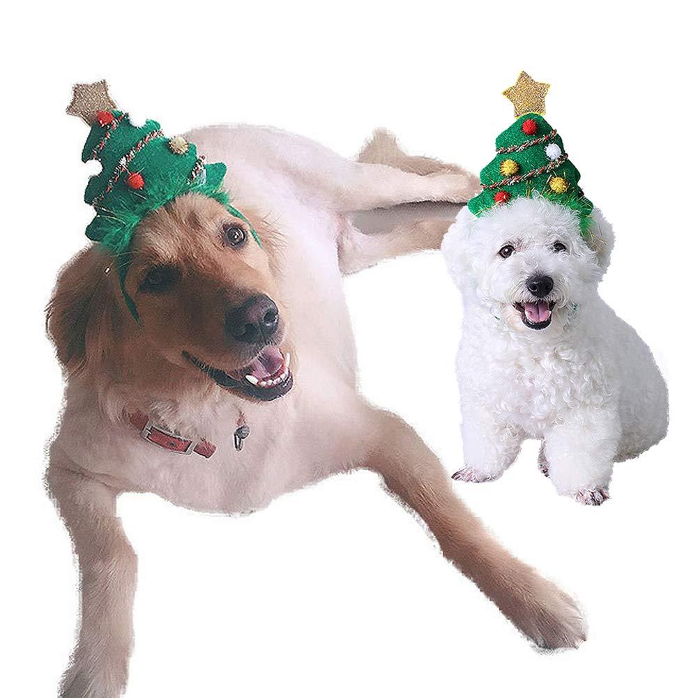 BrawljRORty Hairpin,Christmas Tree Hair Hoop Pet Dog Cat Present Xmas Party Headband Headwear Gift,Dog Accessories