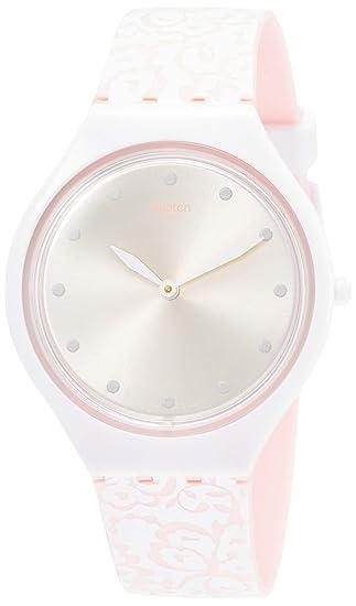 Reloj Con Analógico Para En Swatch Silicona Mujer De Correa Cuarzo Ibf7v6Yyg