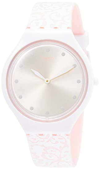 Silicona Swatch Reloj Analógico Mujer Con Para Correa En De Cuarzo A5j4RL3q