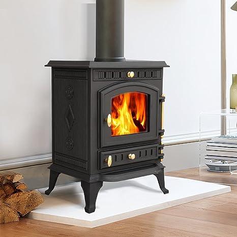 Nuevo quemador de troncos de hierro fundido multicombustible ...
