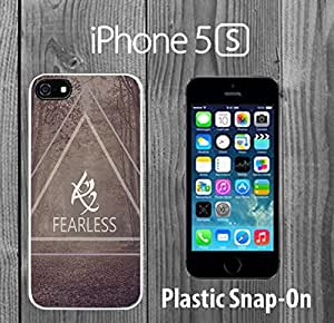 Mortal Instruments Rune Fearless Custom made Case/Cover/skin FOR iPhone 5/5s -White- Plastic Snap On Case ( Ship From CA)