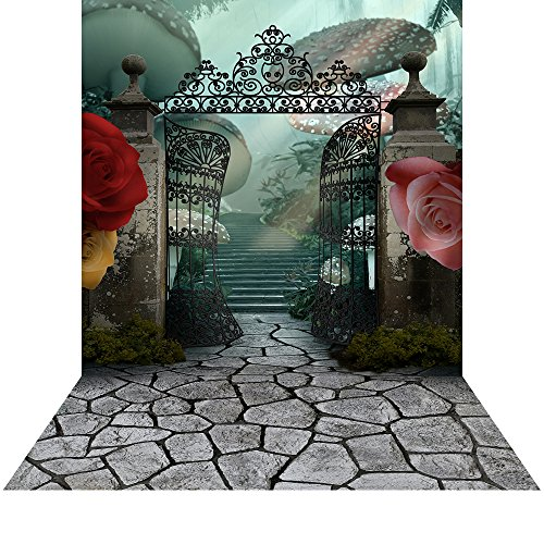 Photography Backdrop - Wonderland Gates with Floor - 10x20 Ft. Seamless Fabric -