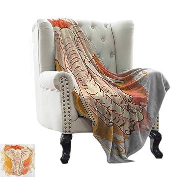 Amazon.com: Anyangeight - Manta de elefante, ligera, diseño ...