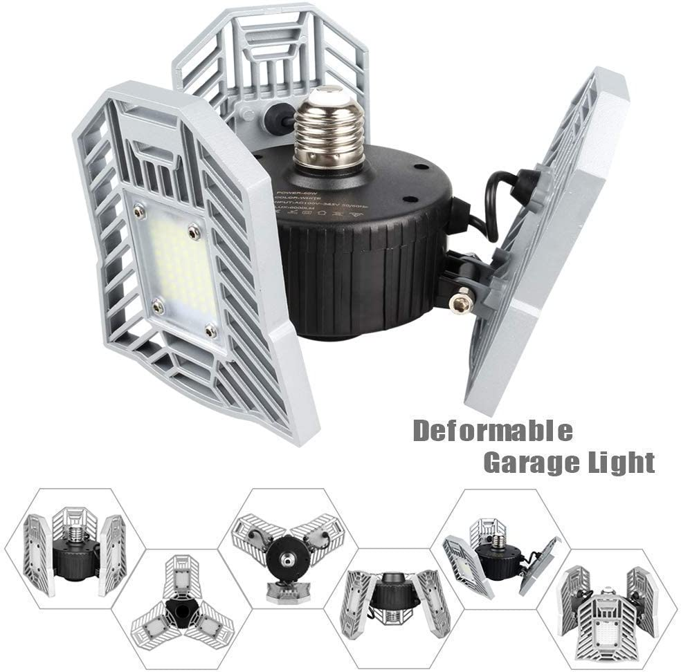 Amazon coupon code for LED Garage Lights 60W Adjustable Trilights