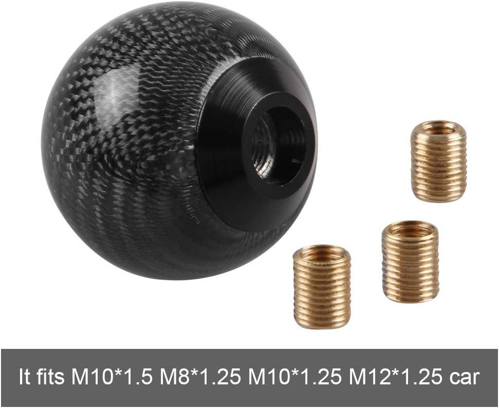 Unitec CARBON 84502 Pommeau de levier de vitesse Alu//carbone