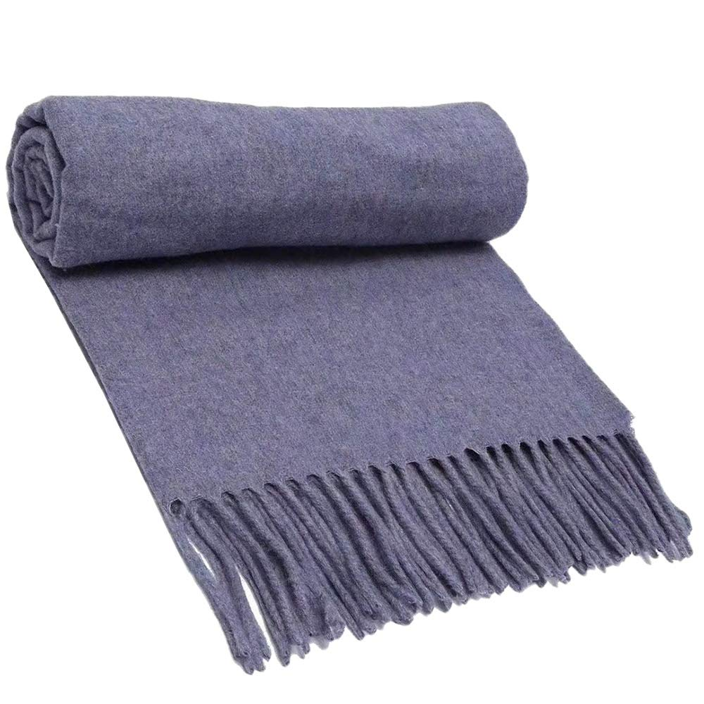 22 Scarf, Pure Wool Scarf Textile, Solid color Warm Pure Cashmere Scarf Men and Women Shawl 200CM