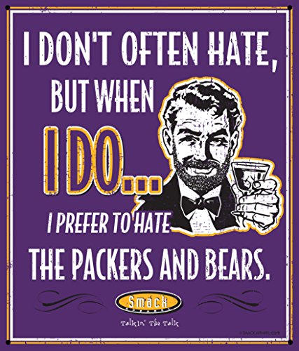 Vikings Parking Minnesota Sign (Nalie Sports Minnesota Football Fans. Stay Victorious. I Don't Often Hate (Anti-Green Bay & Chicago). Metal Man Cave Sign)