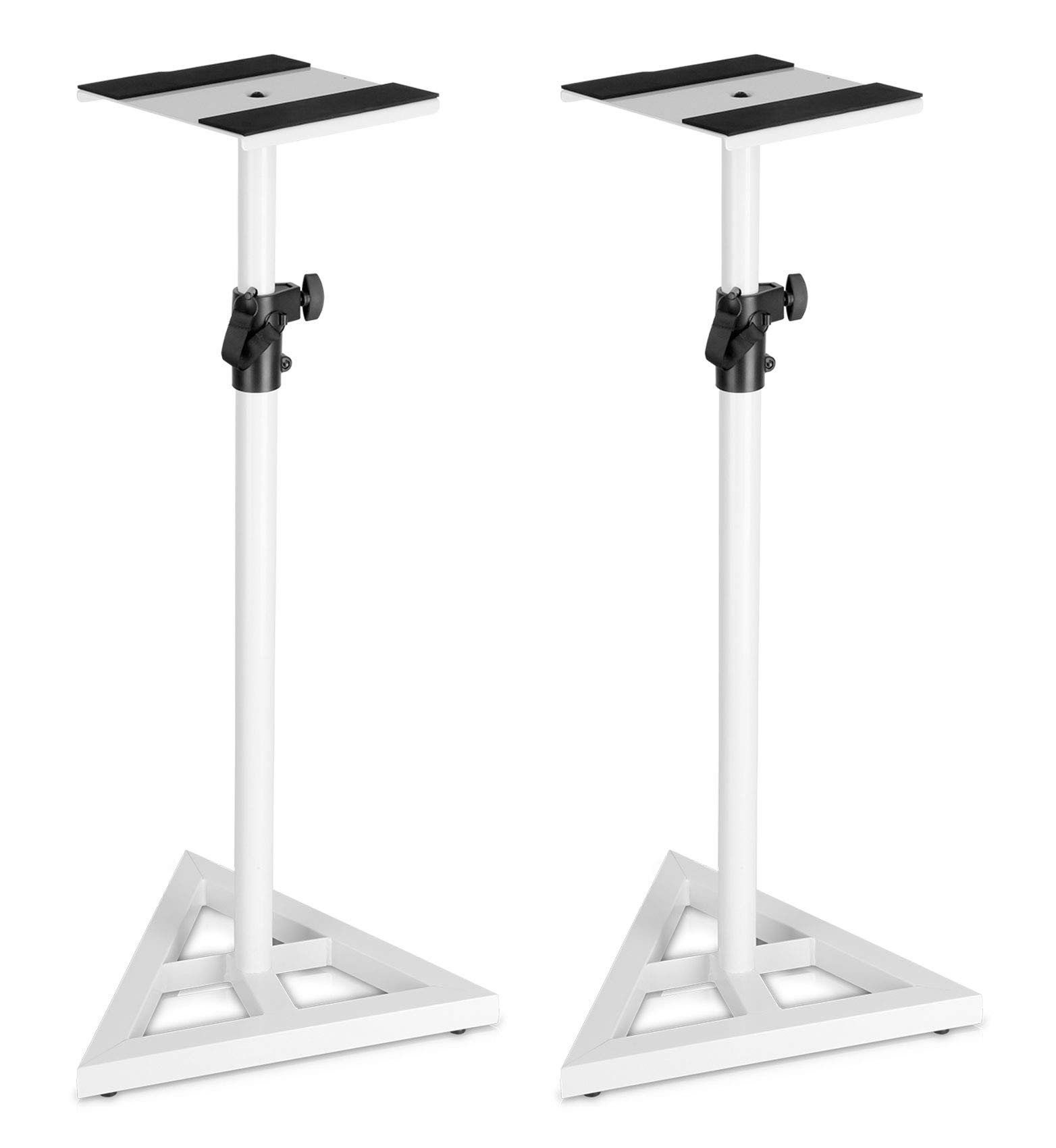 Pair Technical Pro White Studio Monitor Speaker Stands w/Adjustable Height