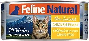 Feline Natural BPA-Free & Gelatin-Free Canned Cat Food, Chicken 3oz 24 Pack