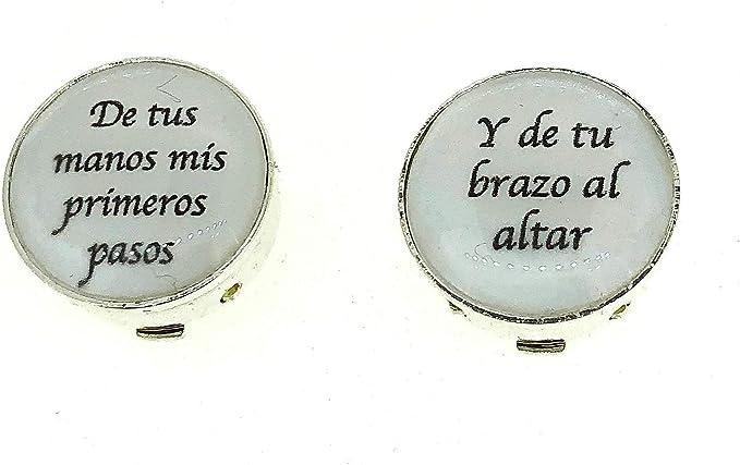 Cubrebotones De Tu Mano Mis Primeros Pasos Blanco: Amazon.es: Ropa y accesorios