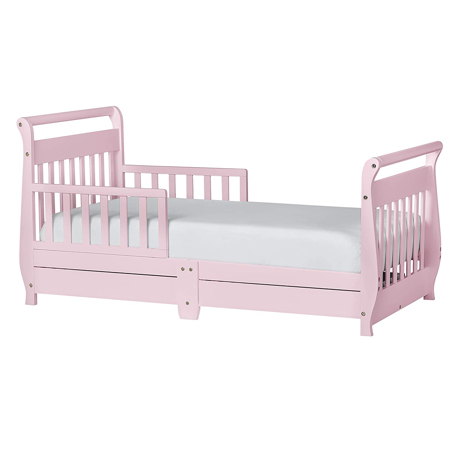 Amazoncom Dream On Me Sleigh Toddler Bed With Storage Drawer