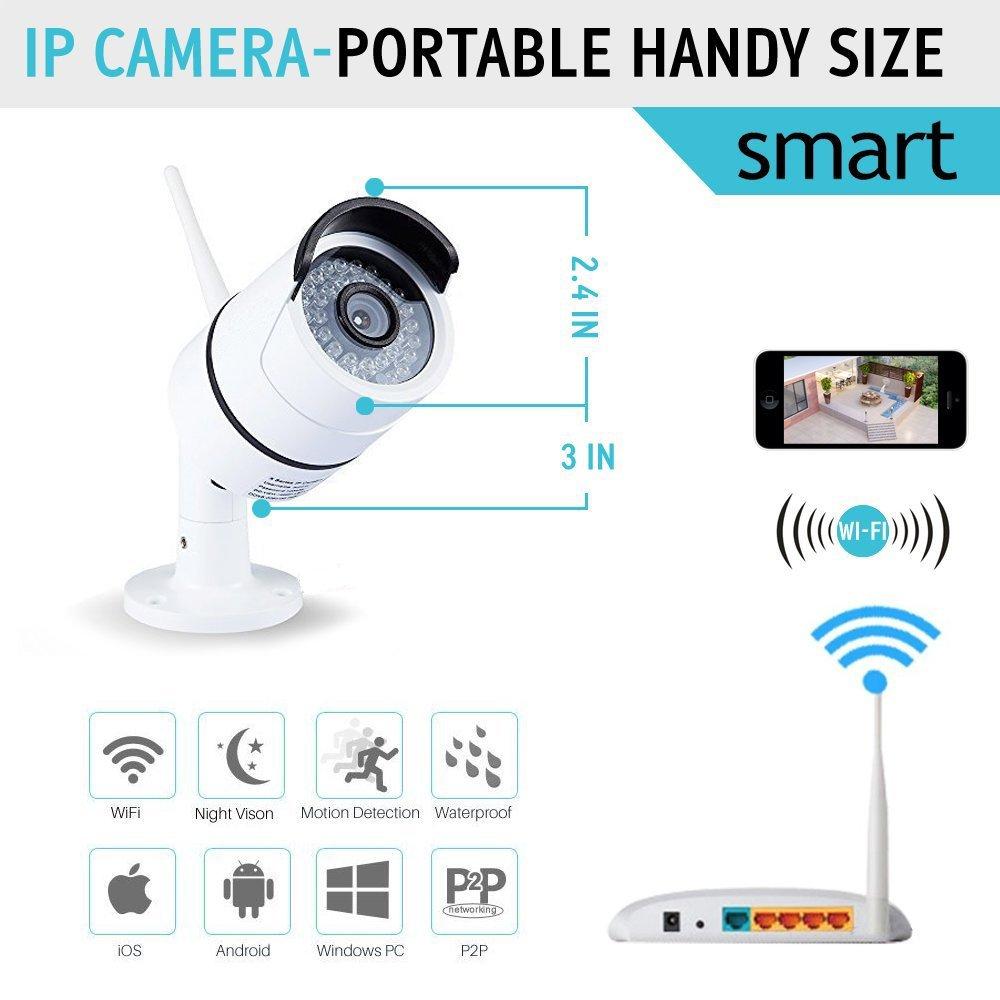 Amazon.com : ICAMI 720P HD 36ir IP Camera WIreless Outdoor Night ...