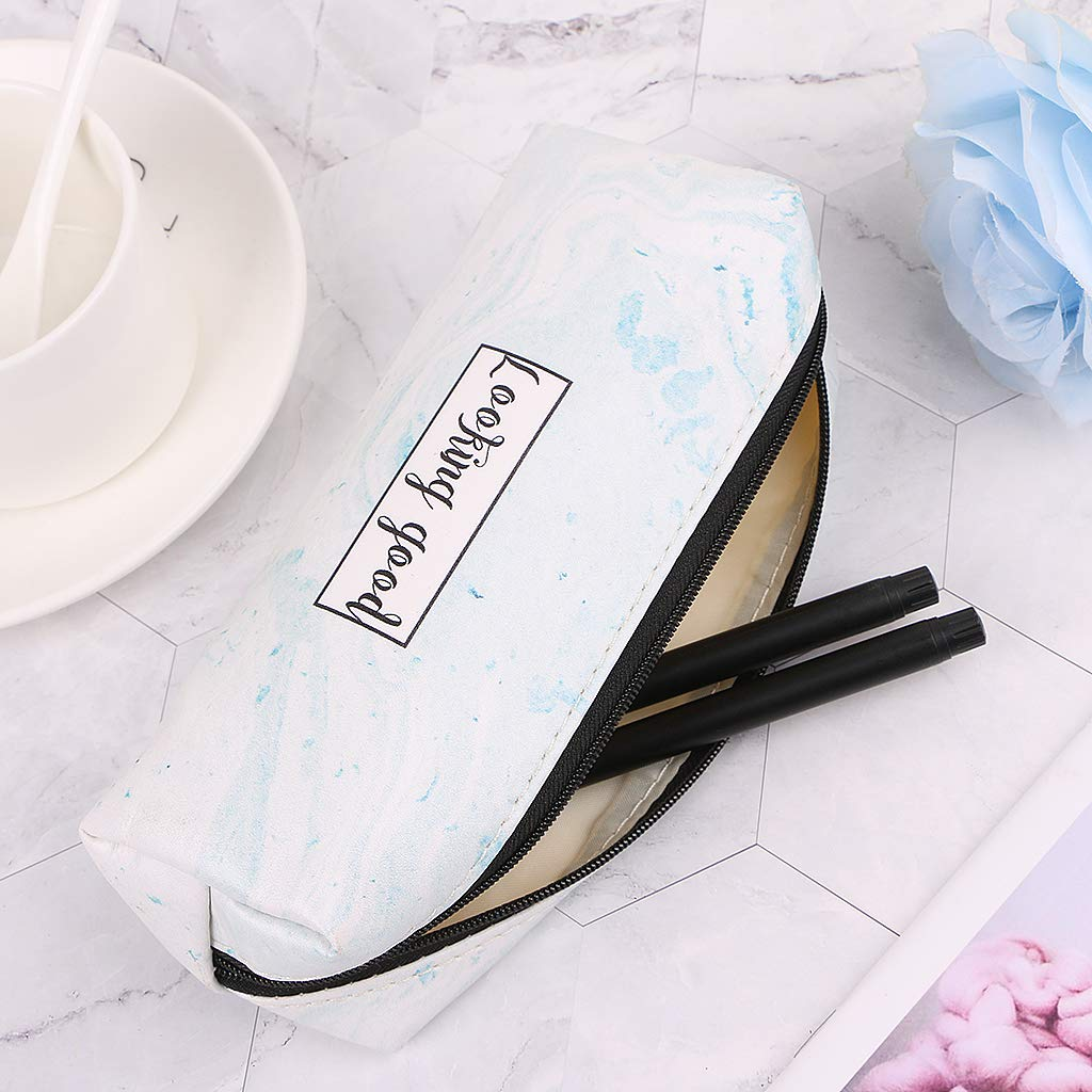 Amazon.com: Sarora - Marble Pencil Case - Stationery School ...