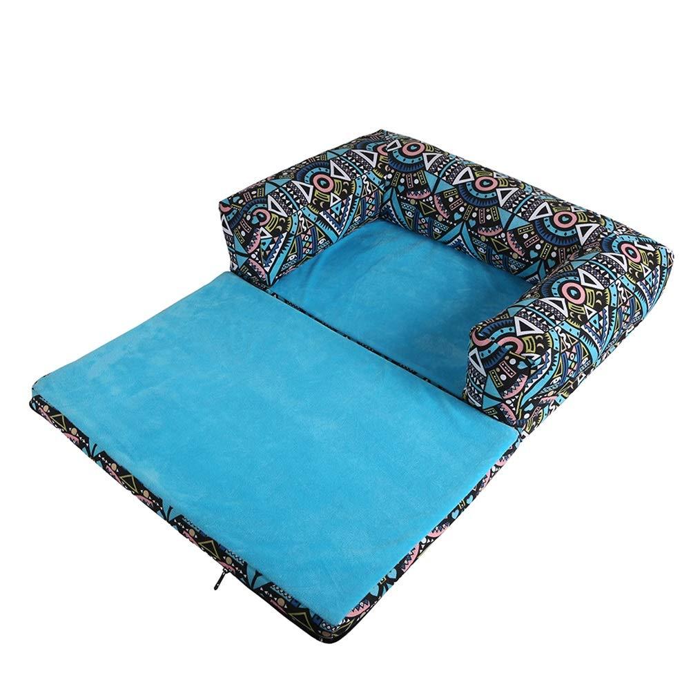 Foldable Pet Bed Detachable Pet Sofa Waterproof Cat Dog Pad with Zipper,Rectangular Sofa Cushion