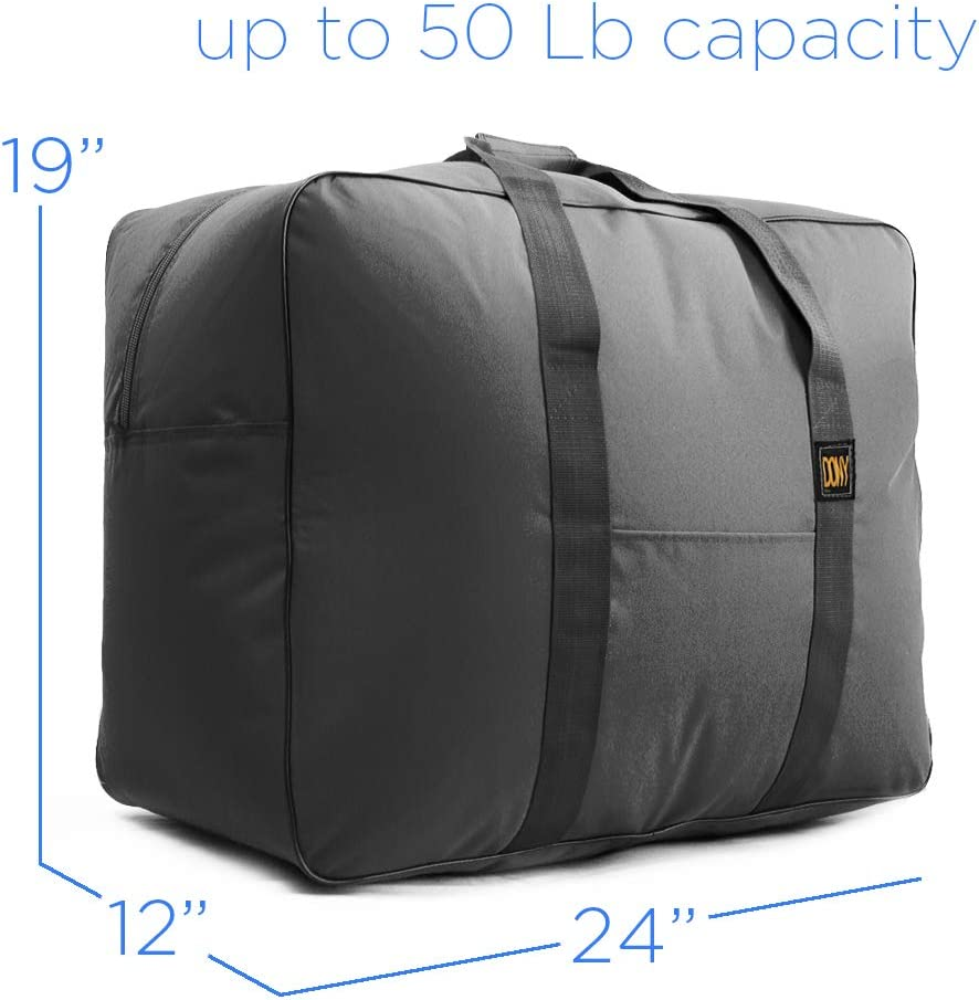 Travel Duffle Bag Bolsa Maleta de Lona 50 Lb Capacity Luggage Tote (Black)