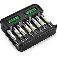 8-Count EBL Rechargeable AAA Batteries