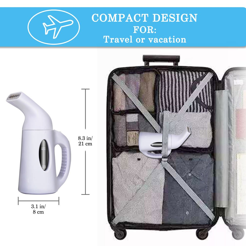 misokoo Steamer For Clothes, Clothes Steamer,Portable Steamer For Clothes Portable Garment Steamer 850 Watt Powerful Clothes Steamer Wrinkle Remover. Reject Spit Out Water Compact-Travel Steamer by misokoo (Image #4)