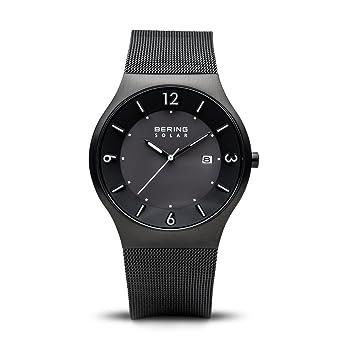 BERING Reloj Analógico para Hombre de Energía Solar con Correa en Acero Inoxidable 14440-222: Amazon.es: Relojes