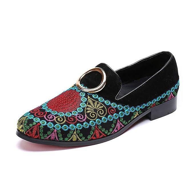 FHTD Calzado De Hombre Zapatillas De Microfibra PU Primavera Otoño Mocasines Mocasines Y Slip-ONS: Amazon.es: Ropa y accesorios