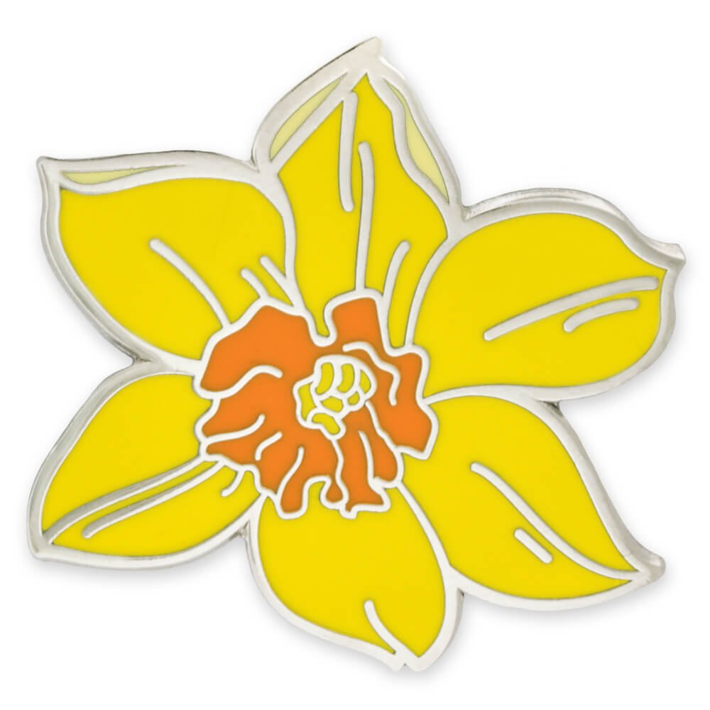 PinMart Yellow Daffodil Flower Boutonniere Trendy Enamel Lapel Pin by PinMart (Image #1)