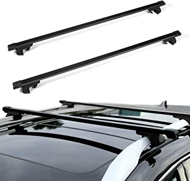 OCPTY Roof Rack Cross Bar Cargo Carrier Fit for 1999-2004 Jeep Grand Cherokee Sport Utility,2007-2011 Jeep Patriot Sport Utility Adjustable 50/â/€ Roof Rack Crossbars