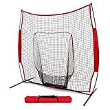 DAILY FITNESS 7×7 Portable Baseball And Softball Practice Net ,Pitch Net, Hitting Net